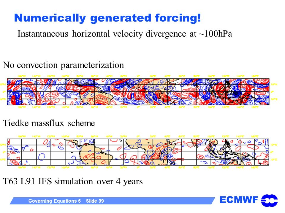 Numerically generated forcing!