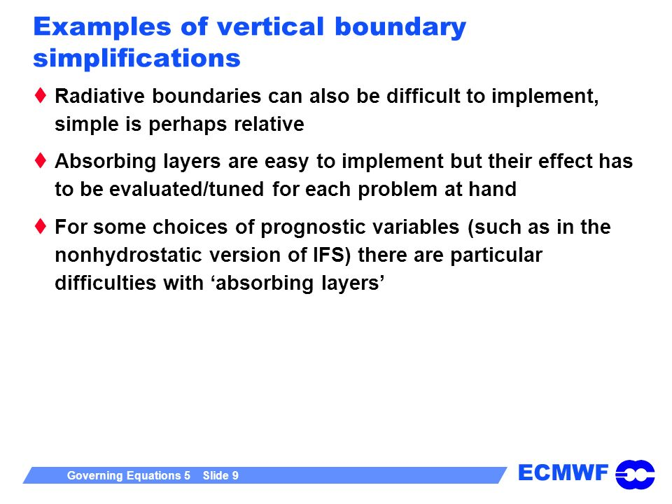 Examples of vertical boundary simplifications