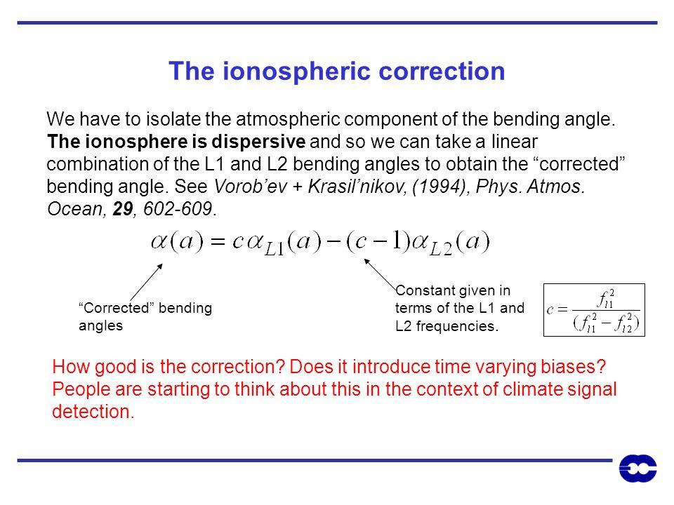 The ionospheric correction