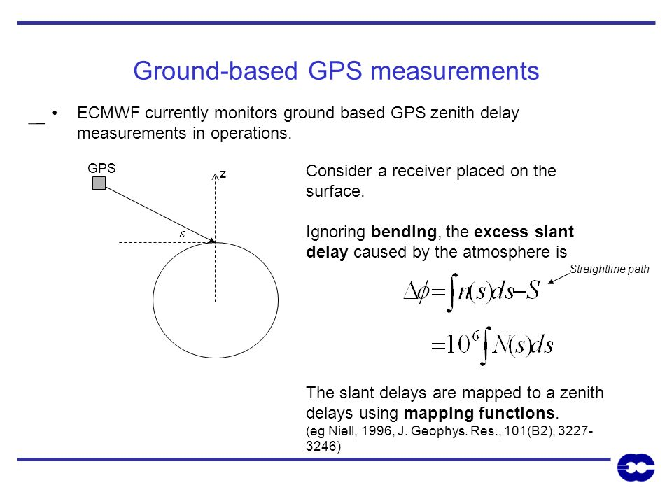 Ground-based GPS measurements