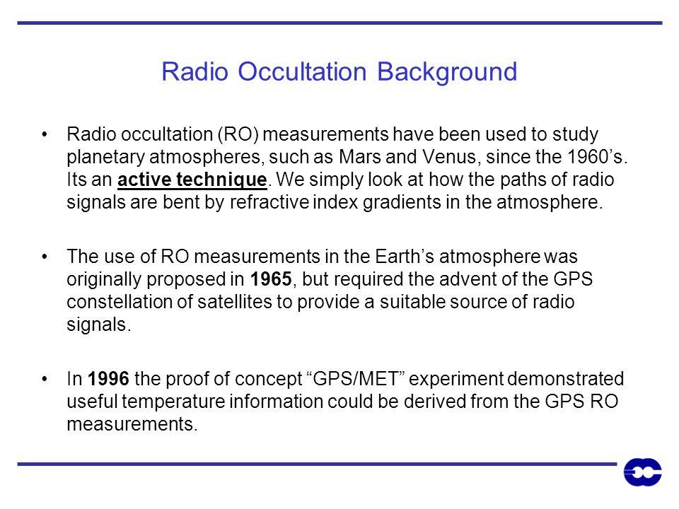 Radio Occultation Background