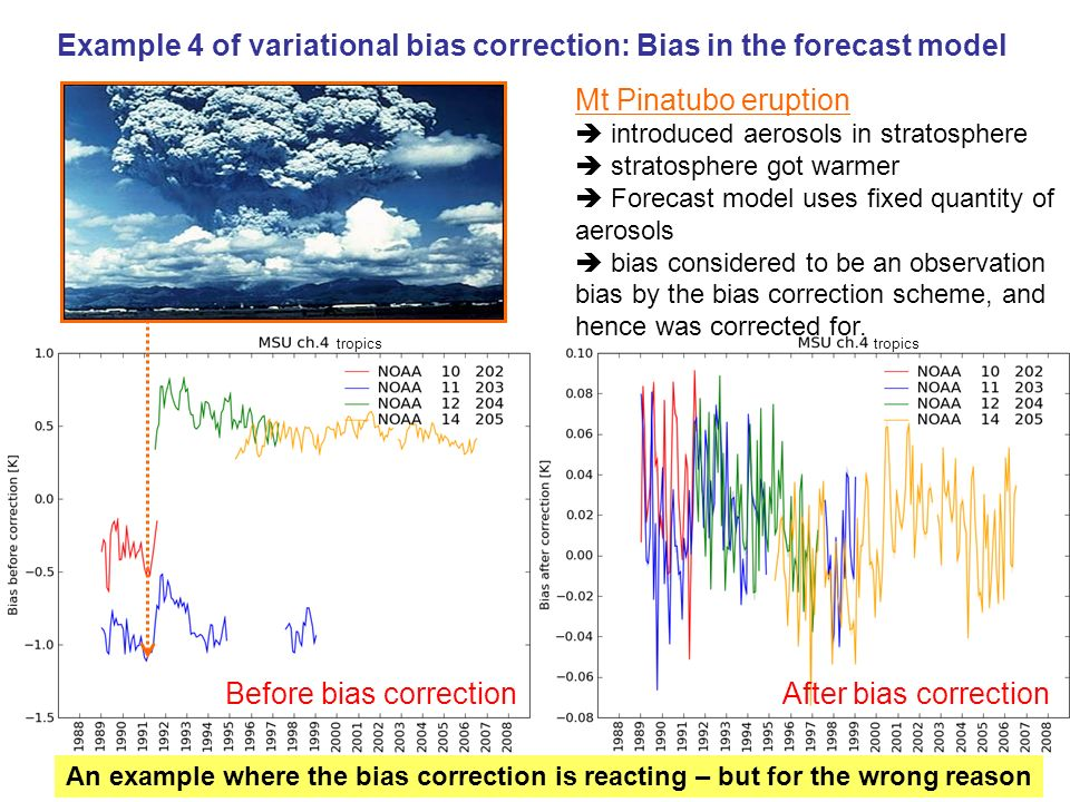 Example 4 of variational bias correction: Bias in the forecast model