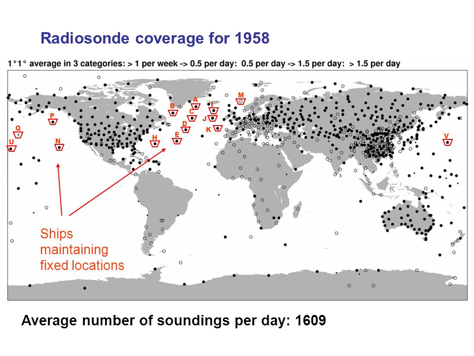 Radiosonde coverage for 1958