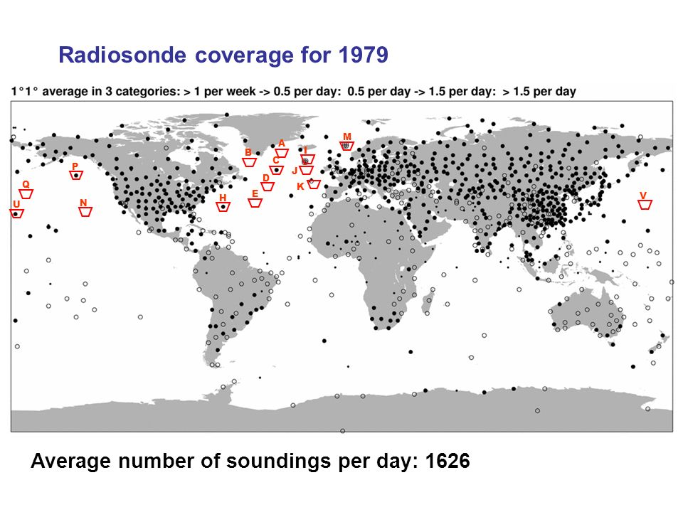 Radiosonde coverage for 1979