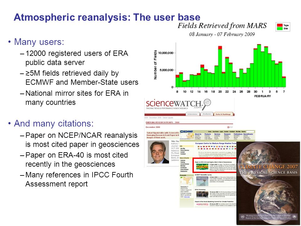 Atmospheric reanalysis: The user base