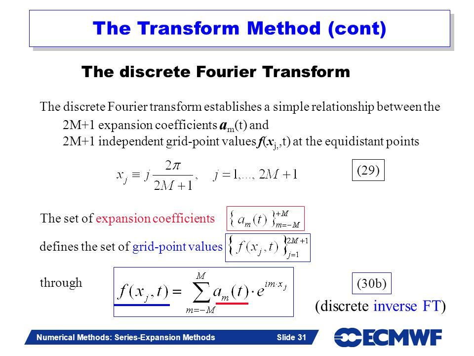 The Transform Method (cont)
