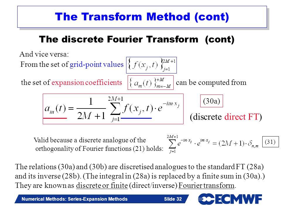 The Transform Method (cont)