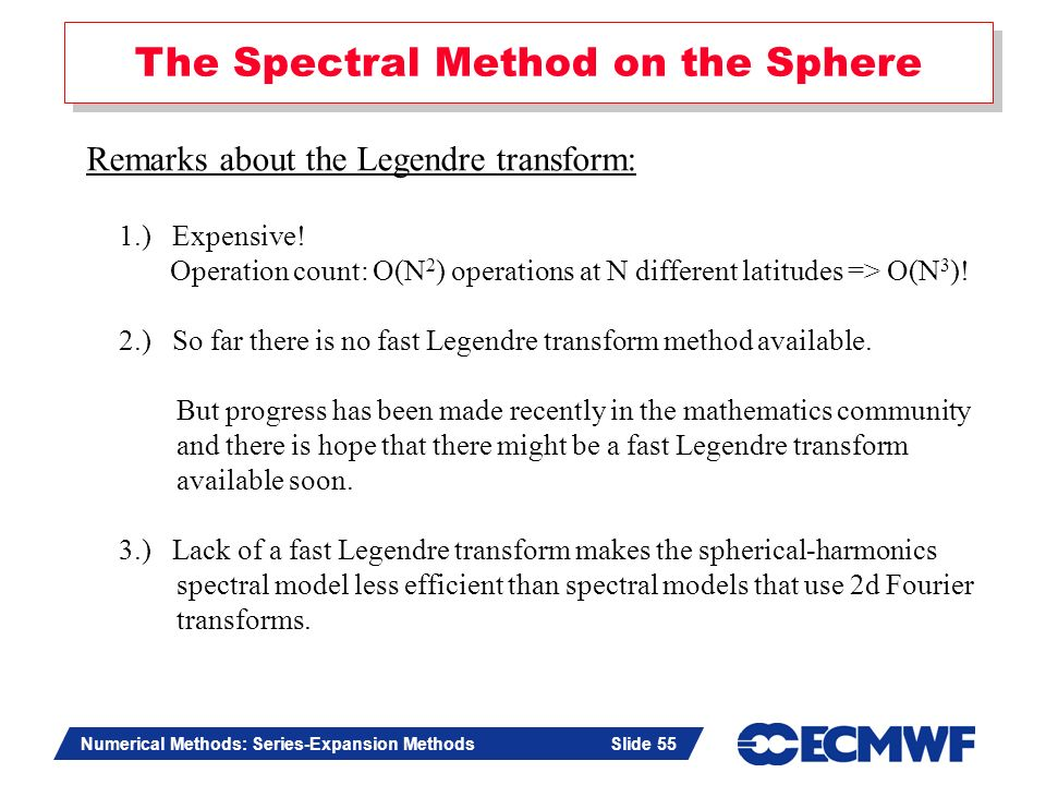 The Spectral Method on the Sphere
