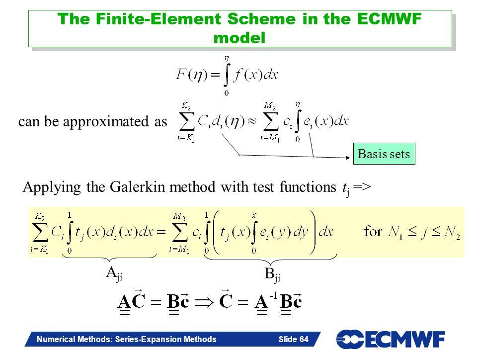 The Finite-Element Scheme in the ECMWF model