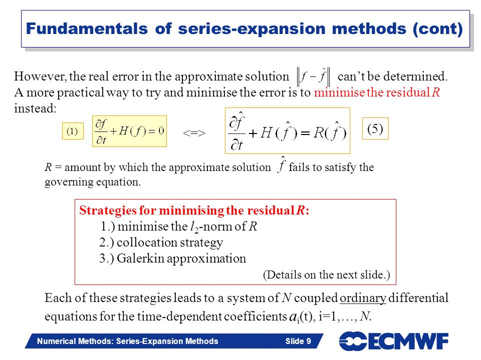 Fundamentals of series-expansion methods (cont)