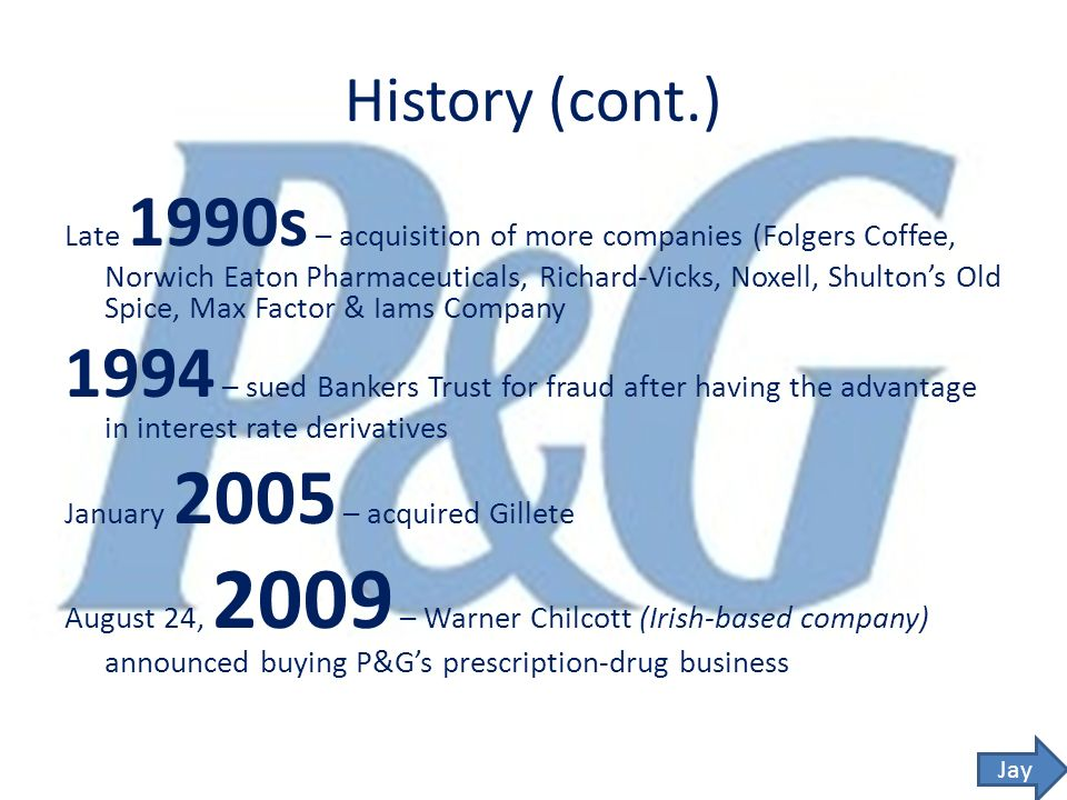 an introduction to the company history of proctor and gamble in 1873 Proctor and gamble essay examples 10 total results an introduction to the company history of proctor and gamble in 1873 company marketing analysis: proctor.