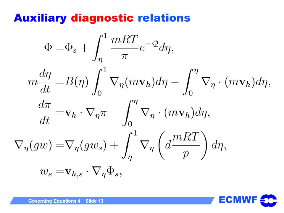Auxiliary diagnostic relations