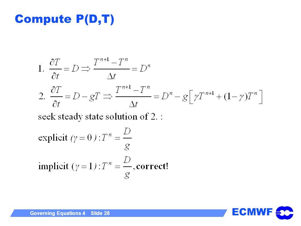Compute P(D,T)