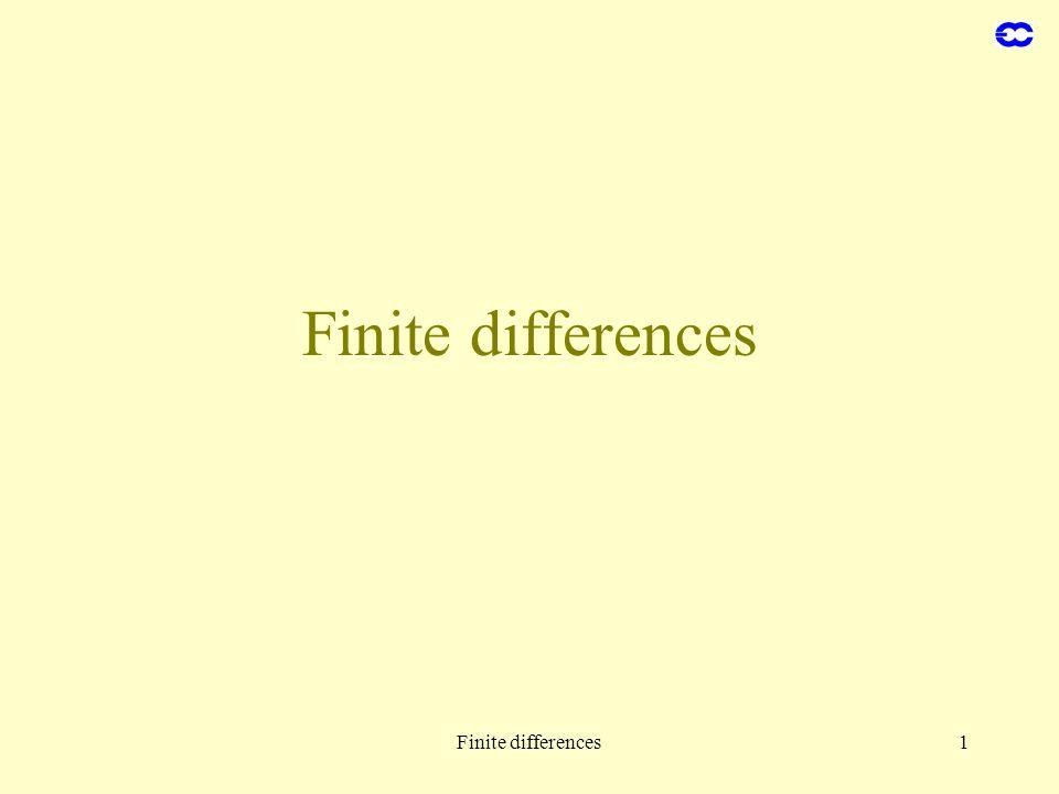 Finite differences Finite differences