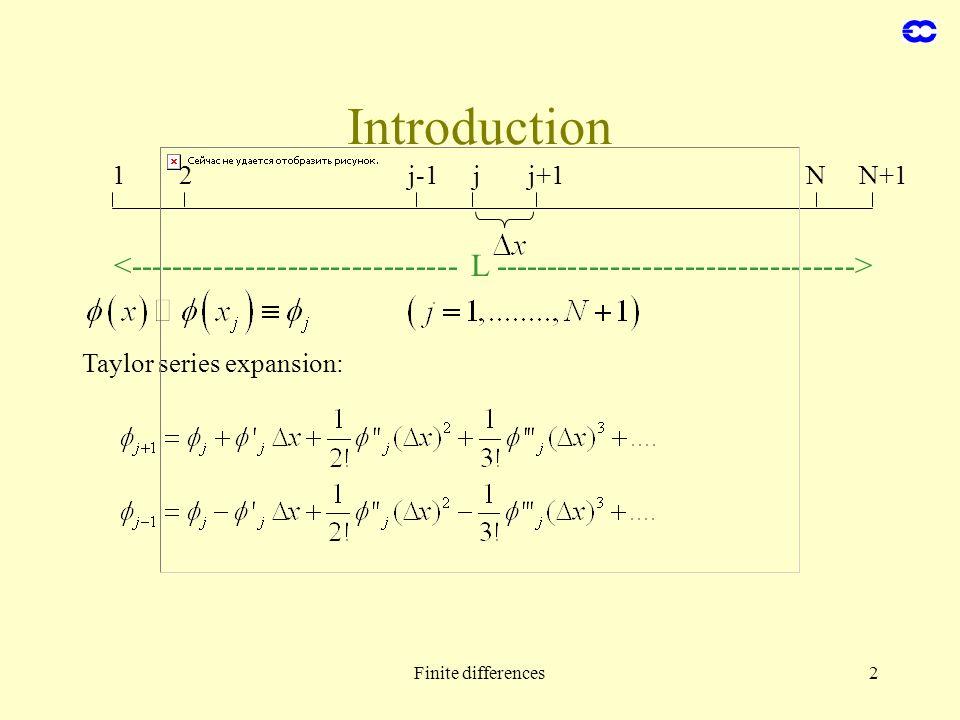 Introduction 1. 2. j-1. j. j+1. N. N+1. <------------------------------- L ---------------------------------->