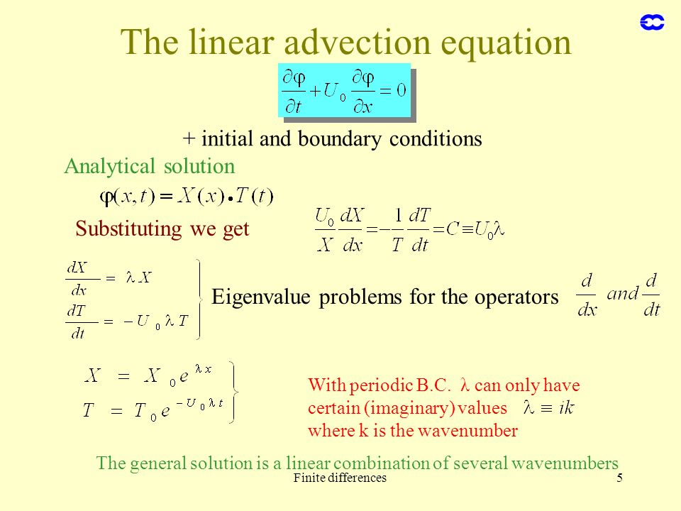 The linear advection equation