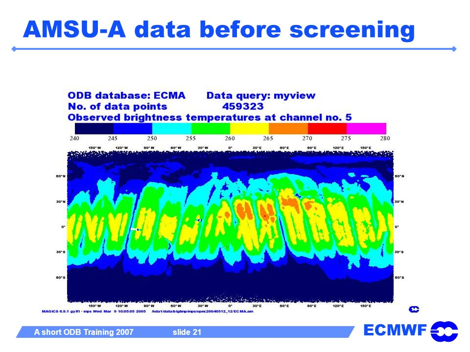 AMSU-A data before screening