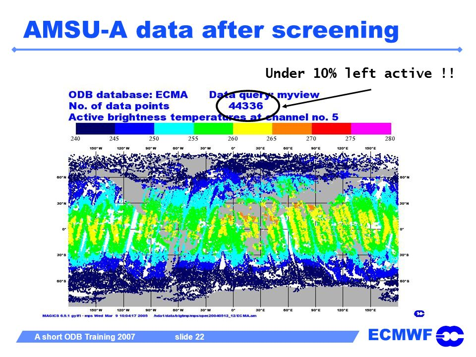 AMSU-A data after screening