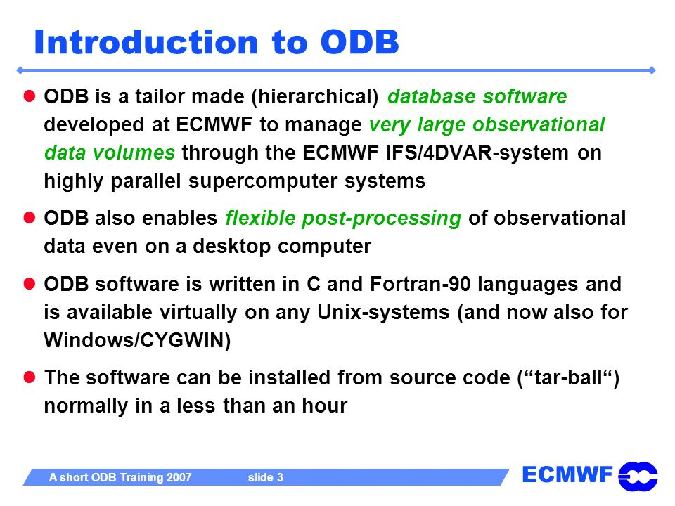 Introduction to ODB