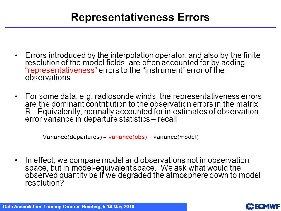 Representativeness Errors