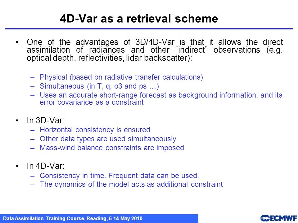 4D-Var as a retrieval scheme