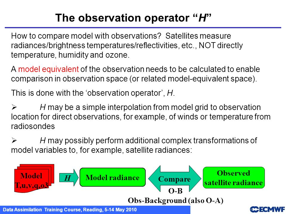 The observation operator H