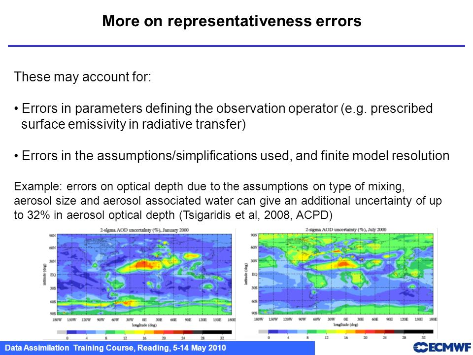 More on representativeness errors