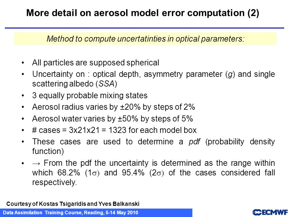 More detail on aerosol model error computation (2)