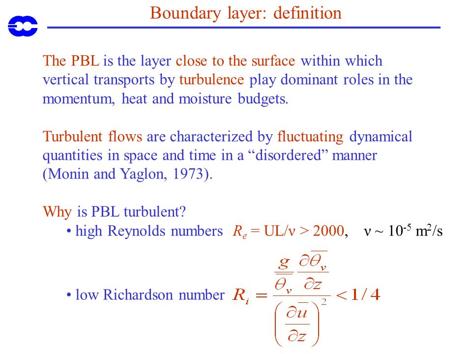 Boundary layer: definition