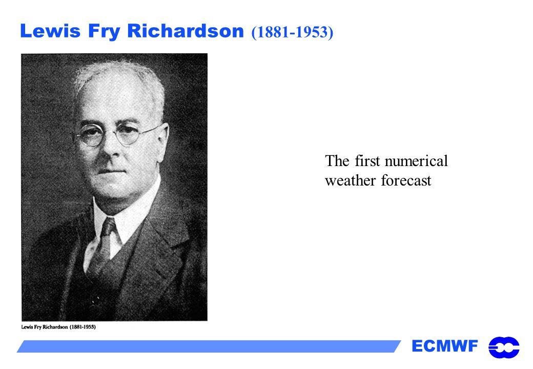Lewis Fry Richardson (1881-1953)