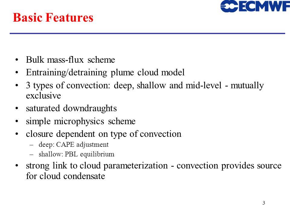 Basic Features Bulk mass-flux scheme