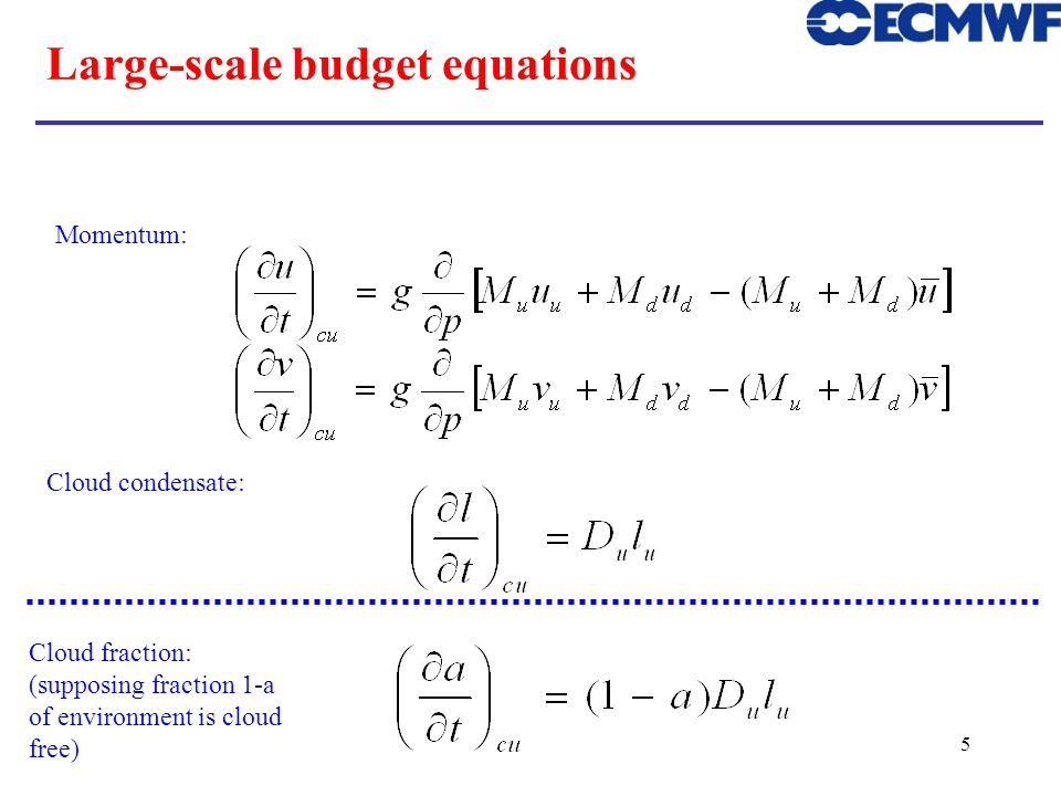 Large-scale budget equations