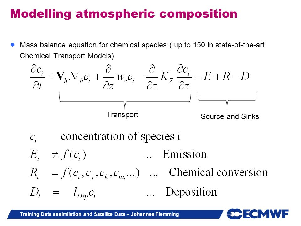 Modelling atmospheric composition