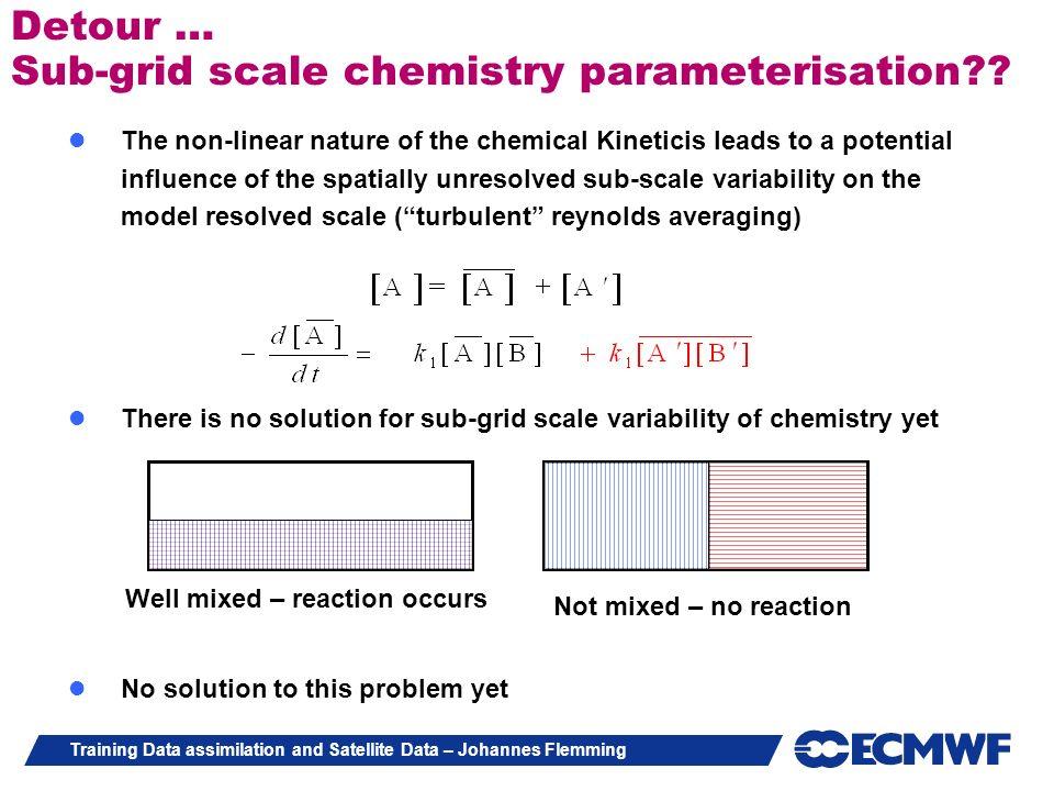 Detour … Sub-grid scale chemistry parameterisation