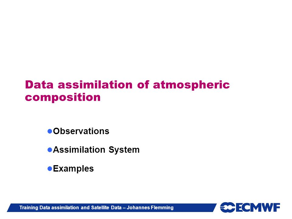 Data assimilation of atmospheric composition