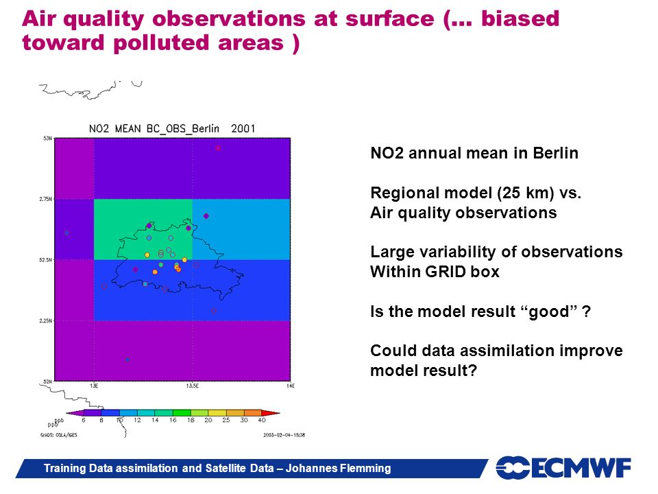 Air quality observations at surface (… biased toward polluted areas )‏