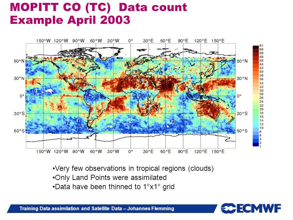 MOPITT CO (TC) Data count Example April 2003