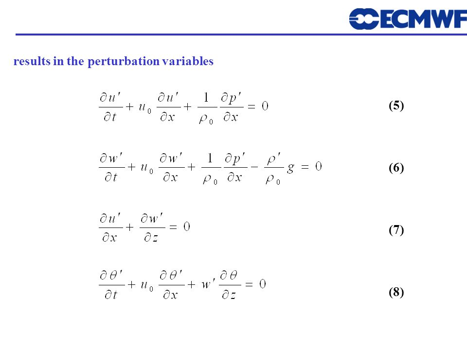 results in the perturbation variables