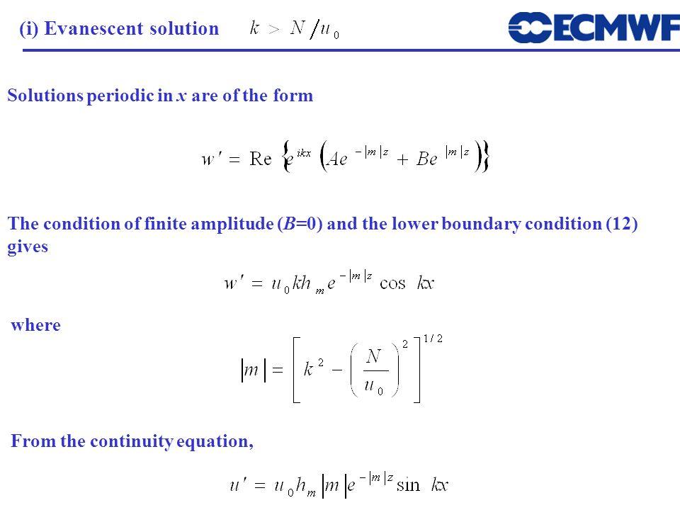 (i) Evanescent solution