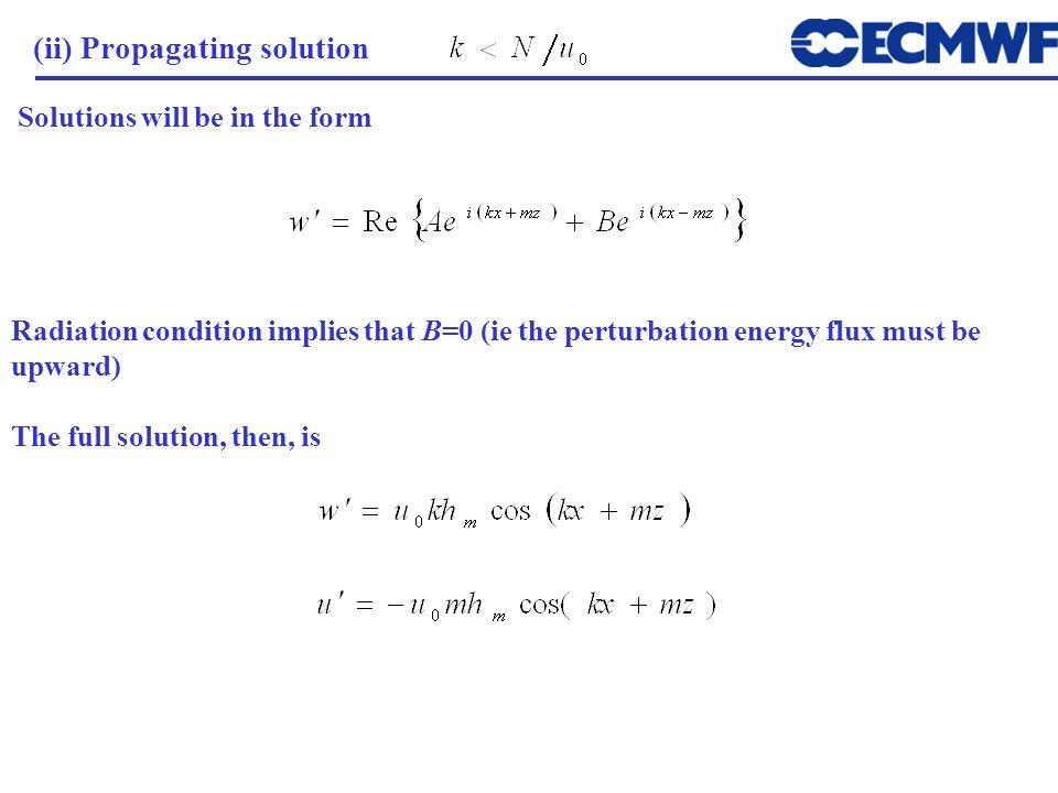 (ii) Propagating solution