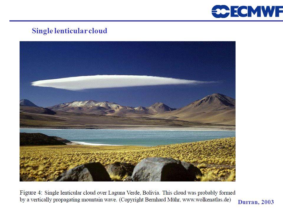 Single lenticular cloud