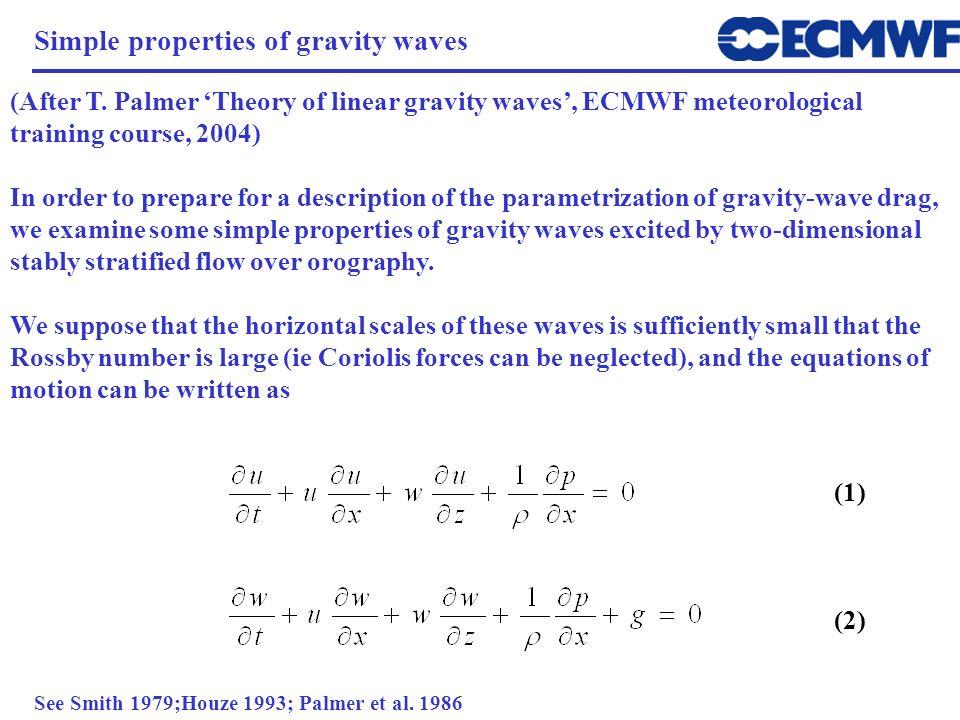 Simple properties of gravity waves