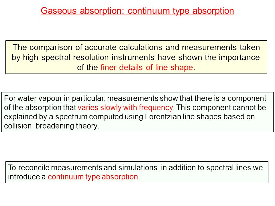 Gaseous absorption: continuum type absorption