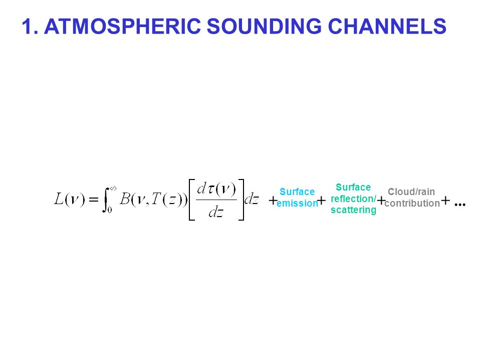 1. ATMOSPHERIC SOUNDING CHANNELS
