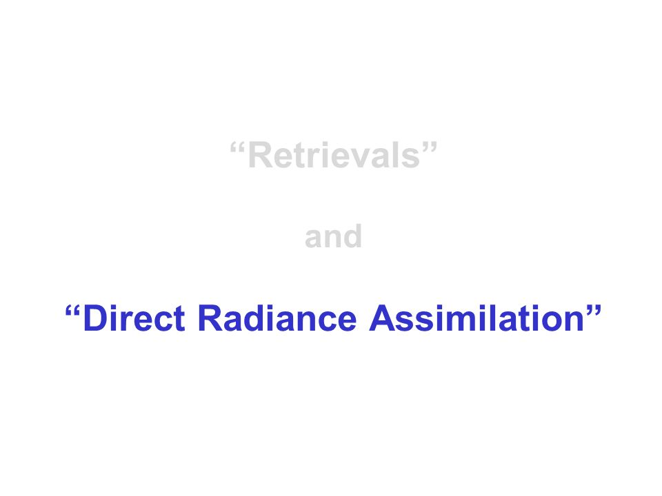 Direct Radiance Assimilation