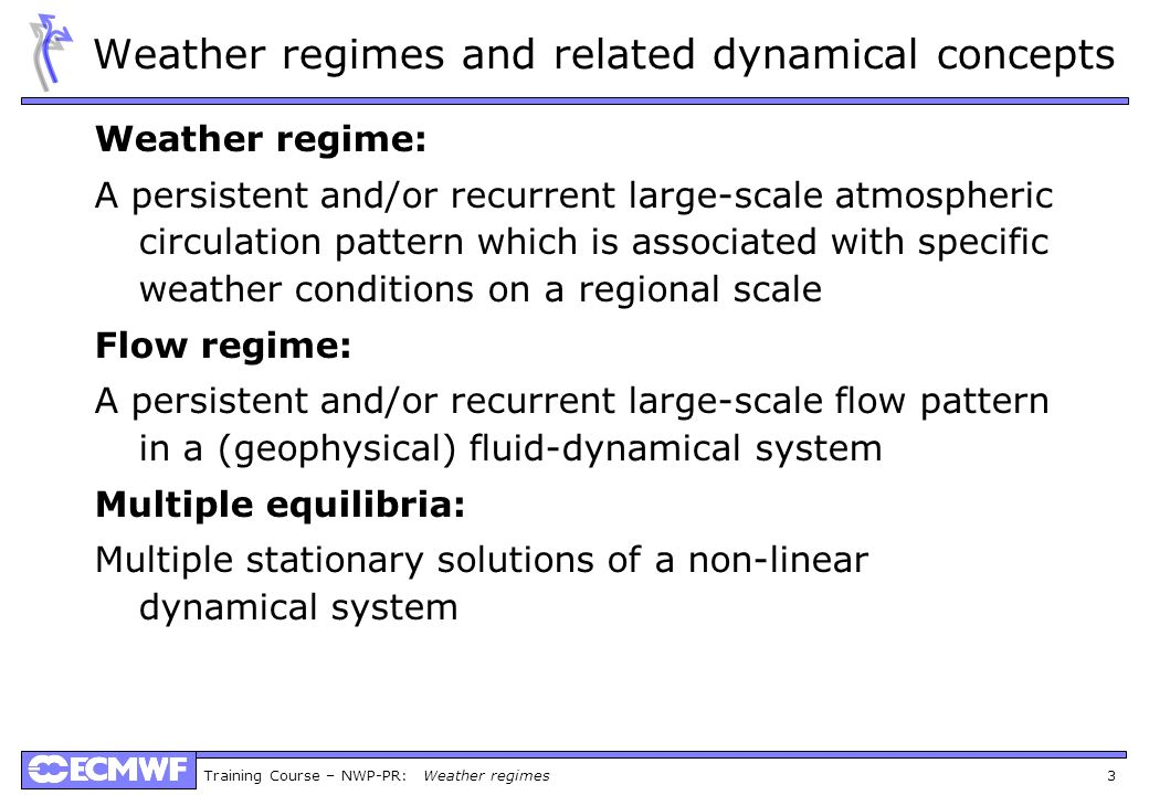 Weather regimes and related dynamical concepts