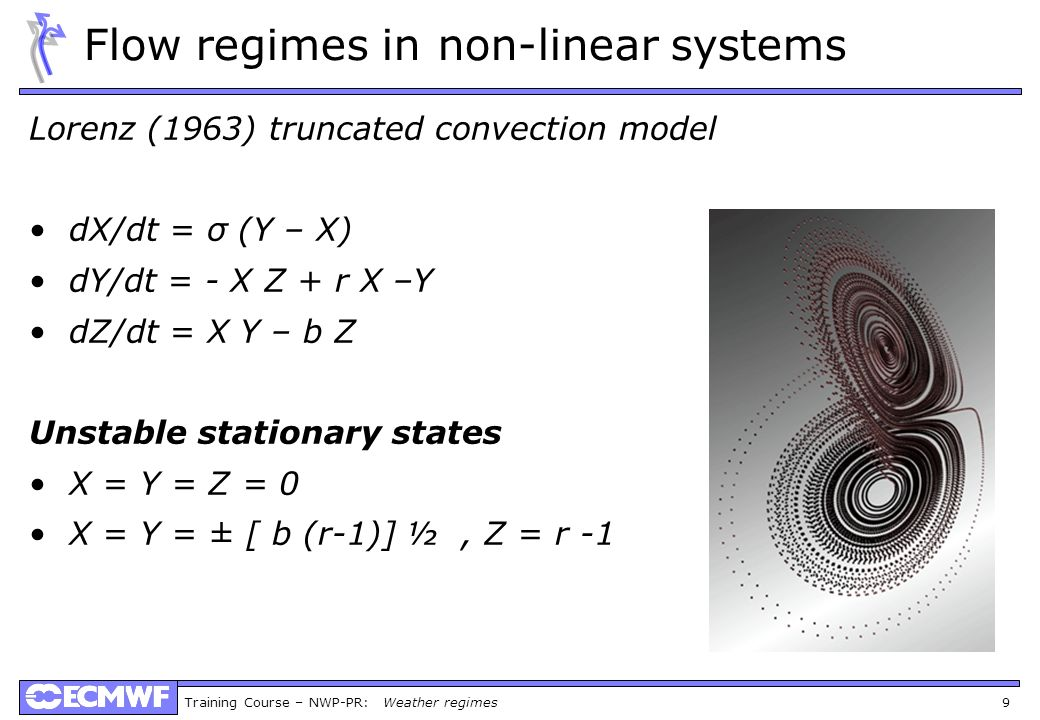 Flow regimes in non-linear systems