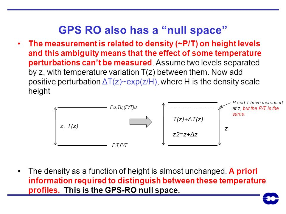 GPS RO also has a null space