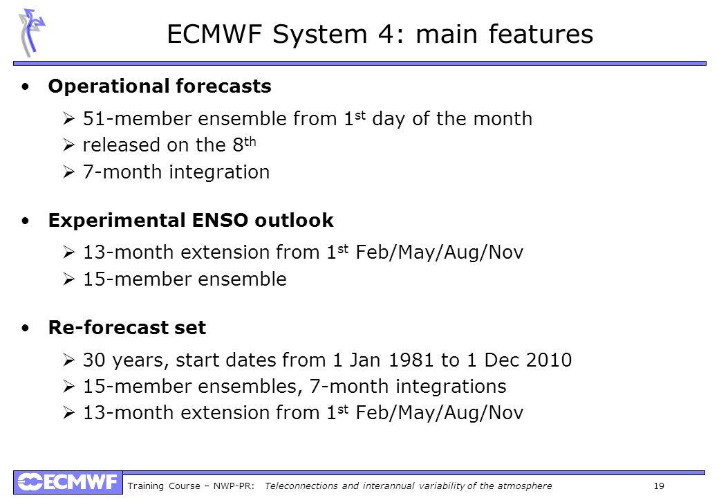 ECMWF System 4: main features