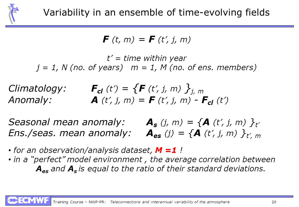 Variability in an ensemble of time-evolving fields